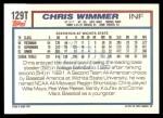 1992 Topps Traded #129 T  -  Chris Wimmer Team USA Back Thumbnail