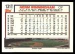 1992 Topps Traded #131 T Herm Winningham  Back Thumbnail