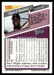 1993 Topps Traded #126 T Daryl Boston  Back Thumbnail
