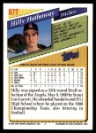 1993 Topps Traded #87 T Hilly Hathaway  Back Thumbnail