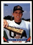 1993 Topps Traded #124 T  -  Bret Wagner Team USA Front Thumbnail