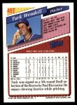 1993 Topps Traded #49 T Turk Wendell  Back Thumbnail