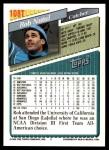 1993 Topps Traded #108 T Rob Natal  Back Thumbnail