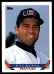 1993 Topps Traded #120 T  -  Bob Scafa Team USA Front Thumbnail