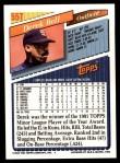 1993 Topps Traded #55 T Derek Bell  Back Thumbnail