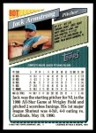 1993 Topps Traded #80 T Jack Armstrong  Back Thumbnail
