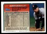 1994 Topps Traded #123 T Jeff Reboulet  Back Thumbnail