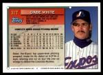 1994 Topps Traded #31 T Gabe White  Back Thumbnail