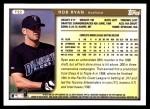 1999 Topps Traded #22 T Rob Ryan  Back Thumbnail
