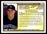 1999 Topps Traded #54 T Jeff Winchester  Back Thumbnail