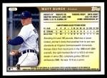 1999 Topps Traded #55 T Matt Burch  Back Thumbnail