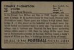 1952 Bowman Large #26  Tom Thompson  Back Thumbnail