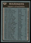 1980 Topps #282   -   Darrell Johnson Mariners Team and Checklist  Back Thumbnail