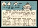 1965 Topps #562  Billy Moran  Back Thumbnail