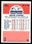 1986 Fleer #18  Wayne Cooper  Back Thumbnail