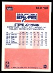 1986 Fleer #55  Steve Johnson  Back Thumbnail