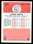 1986 Fleer #104  Larry Smith  Back Thumbnail