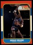 1986 Fleer #122  Gerald Wilkins  Front Thumbnail