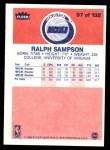 1986 Fleer #97  Ralph Sampson  Back Thumbnail
