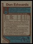 1977 Topps #201  Don Edwards  Back Thumbnail