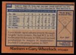 1978 Topps #596  Gary Wheelock  Back Thumbnail