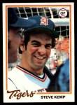 1978 Topps #21  Steve Kemp  Front Thumbnail
