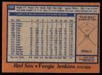 1978 Topps #720  Fergie Jenkins  Back Thumbnail