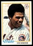 1978 Topps #134  Steve Henderson  Front Thumbnail