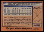 1978 Topps #172  Mike Hargrove  Back Thumbnail