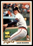 1978 Topps #124  Dave Rozema  Front Thumbnail