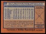 1978 Topps #620  Willie Randolph  Back Thumbnail