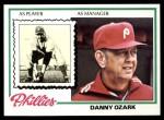 1978 Topps #631  Danny Ozark  Front Thumbnail