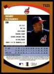2002 Topps Traded #123 T Henry Pichardo  Back Thumbnail