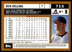 2002 Topps Traded #15 T Rick Helling  Back Thumbnail