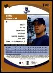 2002 Topps Traded #145 T Ryan Bukvich  Back Thumbnail