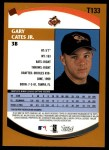 2002 Topps Traded #133 T Gary Cates Jr.  Back Thumbnail