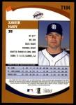 2002 Topps Traded #184 T Xavier Nady  Back Thumbnail