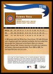 2002 Topps Traded #270 T  -  Sammy Sosa Who Would Have Thought Back Thumbnail