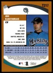 2002 Topps Traded #217 T Jim Kavourias  Back Thumbnail