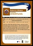 2002 Topps Traded #275 T  -  Roberto Alomar Who Would Have Thought Back Thumbnail