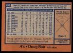 1978 Topps #353  Doug Bair  Back Thumbnail