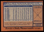 1978 Topps #156  Andy Messersmith  Back Thumbnail