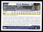 2004 Topps Traded #83 T Chris Nelson  Back Thumbnail