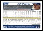 2004 Topps Traded #55 T Jeff Weaver  Back Thumbnail