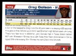 2004 Topps Traded #73 T Greg Golson  Back Thumbnail