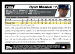 2004 Topps Traded #126 T  -  Ryan Meaux First Year Back Thumbnail