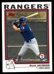 2004 Topps Traded #138 T  -  Brock Jacobsen First Year Front Thumbnail