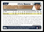 2004 Topps Traded #131 T  -  Chris Saenz First Year Back Thumbnail