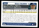 2004 Topps Traded #84 T Blake DeWitt  Back Thumbnail