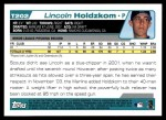 2004 Topps Traded #202 T  -  Lincoln Holdzkom First Year Back Thumbnail